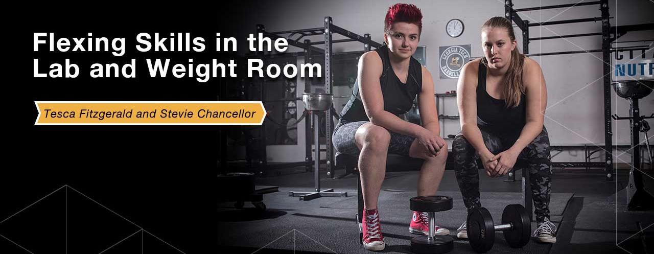 Foley Finalists Flex Skills in Lab and Weightroom